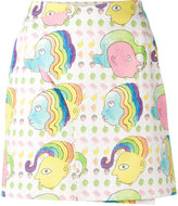 Olympia Le-Tan mini blotter print skirt - women - Cotton/Spandex/Elastane/Acetate - 36