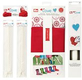 Prym Love 651805 Material Kit Boots Espadrille Flats Creative Thread Decorative Zippers, Creative Paper _ Parent red