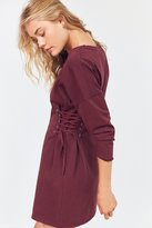 Silence & Noise Silence + Noise Lace-Up Side Corset T-Shirt Dress