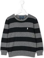 Ralph Lauren logo embroidered striped sweatshirt