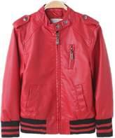 LJYH Boys Zipper Faux Leather Jacket Baby Baseball PU Coat