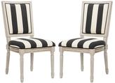 Safavieh Buchanan French Brasserie Linen Side Chairs (Set of 2)