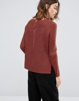 Only Chunky Knit Sweater with Back Zip