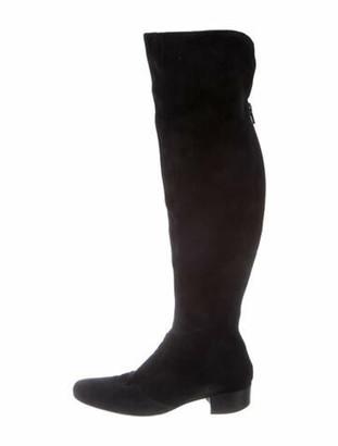Barneys New York Suede Boots Black