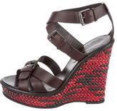 Bottega Veneta Leather Platform Wedges
