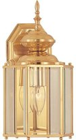 "Maxim Lighting 4622CLPB 13.5"" One Light Outdoor Wall Mount, Finish with Clear Glass"