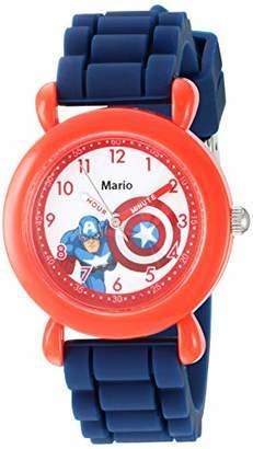 Marvel Boys' Captain America Analog Quartz Watch with Silicone Strap