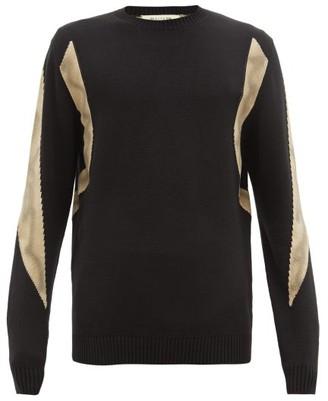 Alyx Panelled Cotton Sweater - Mens - Black