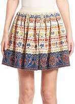 Alice + Olivia Women's Tania Embroidered Skirt