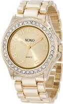 XOXO Women's XO5606 -Tone Rhinestones Analog Bracelet Watch