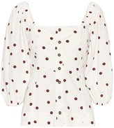 Ganni Polka-dot cotton blouse