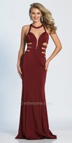 Dave and Johnny Caged Cut Out Column Prom Dress