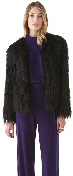 Rachel Zoe Brooklyn Faux Fur Coat