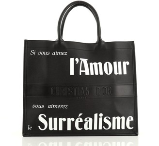 Christian Dior Surrealism Book Tote Printed Leather