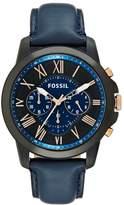Fossil Chronograph Watch Blau