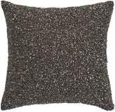 "Donna Karan Silver Multi Bead Decorative Pillow, 10"" x 10"""