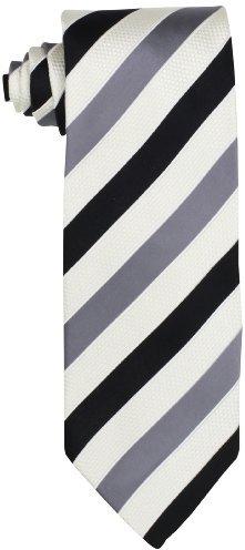 Donald Trump Men's Grenadine Bar Stripe-1, Black, X-Long