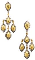 Artisan 14K Gold & 1.59 Total Ct. Diamond Chandelier Earrings