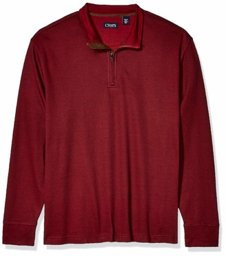 Chaps Men's Big and Tall Cotton Mockneck Pullover