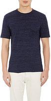 Officine Generale Men's Mélange T-Shirt-NAVY