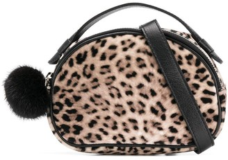 MonnaLisa Leopard Print Clutch Bag