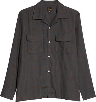 Needles C.O.B. Classic Windowpane Check Cotton Blend Shirt
