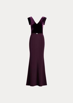 Ralph Lauren Velvet Bodice Gown