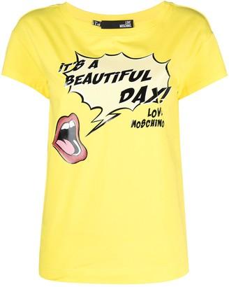 Love Moschino It's A Beautiful Day T-shirt