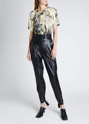 Proenza Schouler Leather High-Waist Pants W Ties