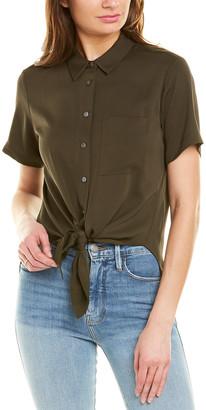 Theory Hekanina Core Silk-Blend Shirt