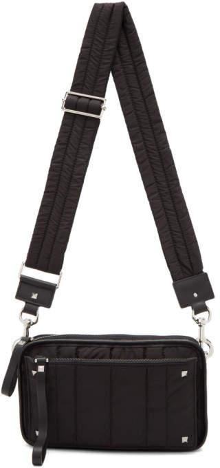 Valentino Black Garavani Small Nylon Messenger Bag