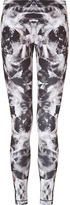McQ by Alexander McQueen Black/White Printed Leggings