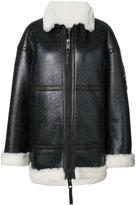Vera Wang metallic patches oversized jacket