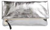 Clare Vivier 'Maison' Metallic Leather Foldover Clutch - Metallic