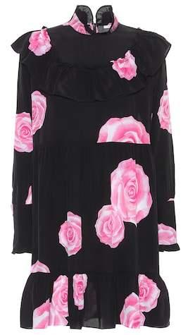 Ganni Fayette floral-printed silk dress