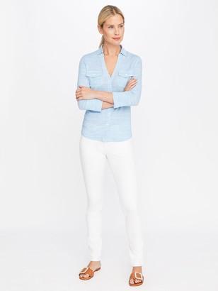 J.Mclaughlin Brynn Linen Shirt in Seawall