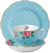 Royal Albert Polka 3-pc. Cup and Saucer Set