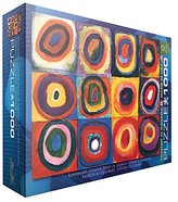 STUDY EuroGraphics Color of Squares and Circles, 1913 by Kandinsky Puzzle (1000 pcs)