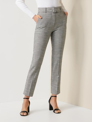Forever New Alexa Petite Check Belted Pant - Check - 10