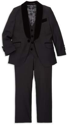 Isaac Mizrahi New York Little Boy's & Boy's 3-Piece Velvet-Lapel Jacket, Vest & Pants Set