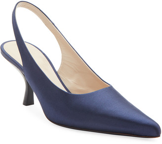 The Row Bourgeoise Slingback Neon Pumps