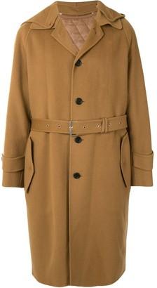 Songzio Hooded Wool Trench Coat
