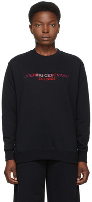 Opening Ceremony Black Embroidered Logo Sweatshirt