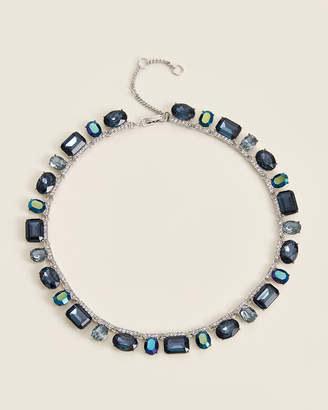 Givenchy Rhodium-Tone & Blue Lush Collar Necklace