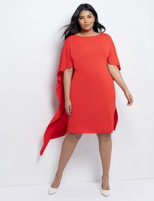 ELOQUII Kimono Sleeve Cape Dress