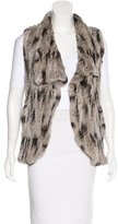 Alice + Olivia Knit Fur Vest