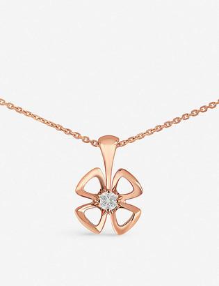 Bvlgari Fiorever 18ct rose-gold and diamond necklace