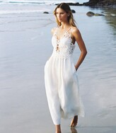 Thumbnail for your product : Reiss Serena - Lace Detailed Midi Dress in White