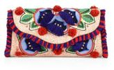 Tory Burch Floral-Embroidered Clutch