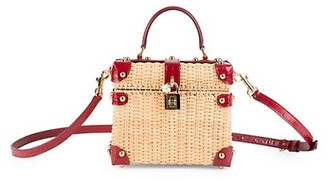 Dolce & Gabbana Dolce Box Wicker Top Handle Bag